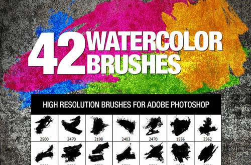 13.photoshop watercolor brushes