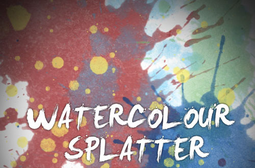 15.photoshop watercolor brushes