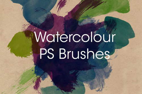 2.photoshop watercolor brushes