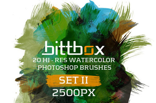 3.photoshop watercolor brushes