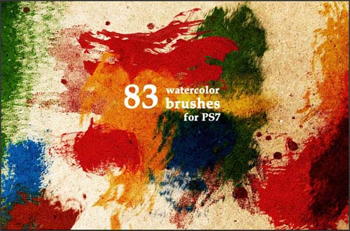5.photoshop watercolor brushes