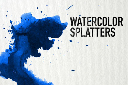 7.photoshop watercolor brushes