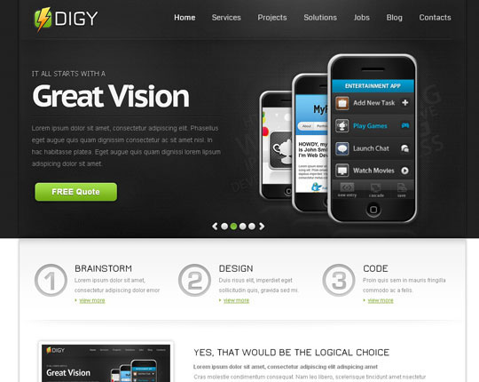 free responsive website templates