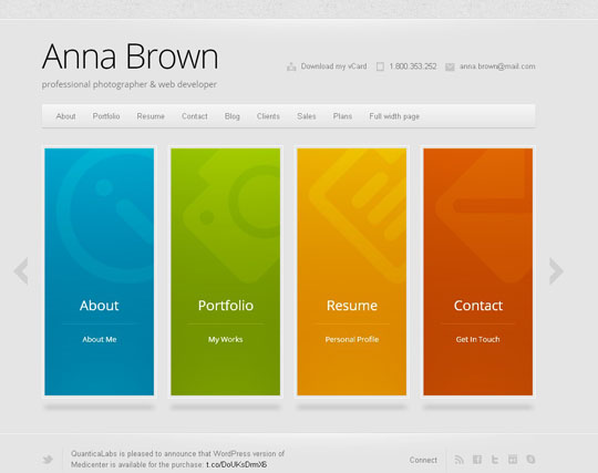 45.best portfolio wordpress themes