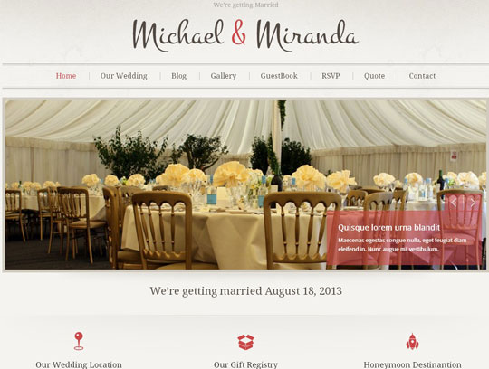 Collection Of Top Wedding Wordpress Themesthe Design Hill The