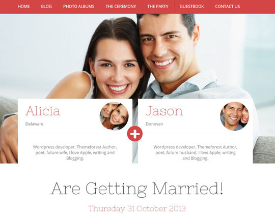 10.wordpress wedding themes
