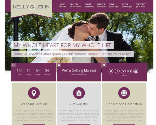 13.wordpress wedding themes