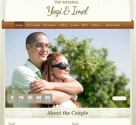 5.wordpress wedding themes