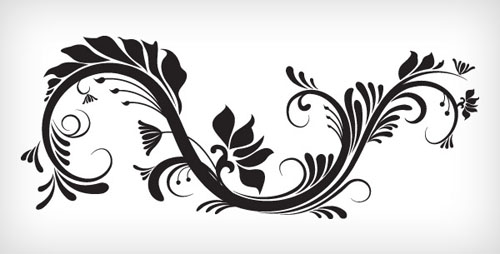 floral-and-swirl-vectors