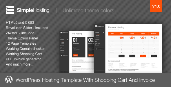 12.hosting wordpress theme
