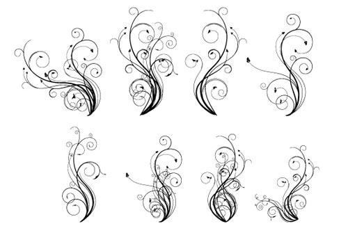 14.floral-and-swirl-vectors