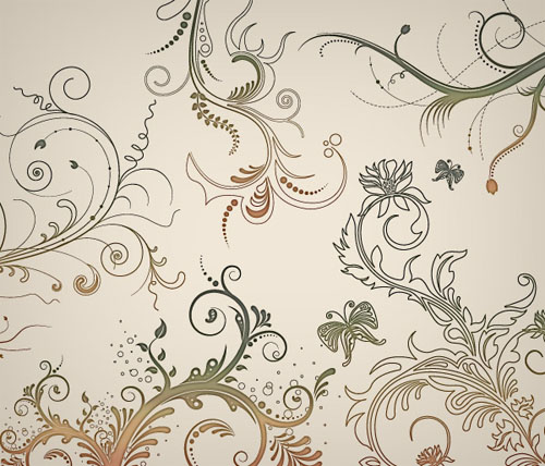 15.floral-and-swirl-vectors