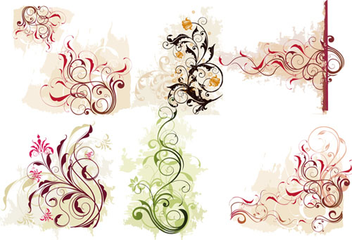 17.floral-and-swirl-vectors