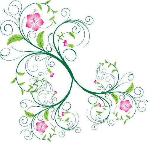 19.floral-and-swirl-vectors