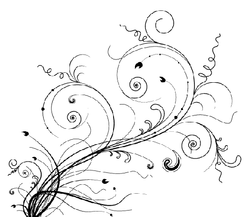 2.floral-and-swirl-vectors