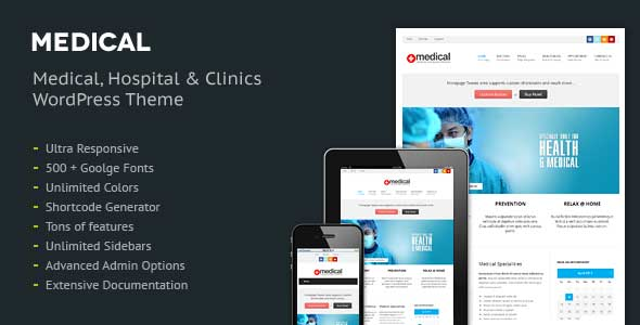 30.health and medical wordpress themes