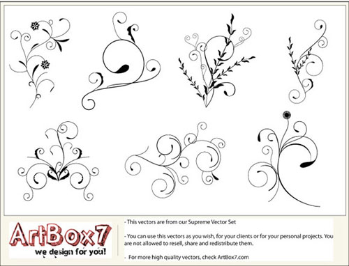 4.floral-and-swirl-vectors