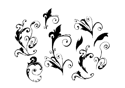 6.floral-and-swirl-vectors