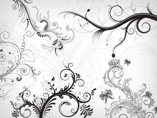 7.floral-and-swirl-vectors