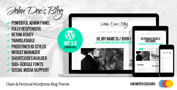 10.wordpress blogging theme