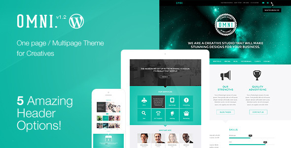 11.one page wordpress theme