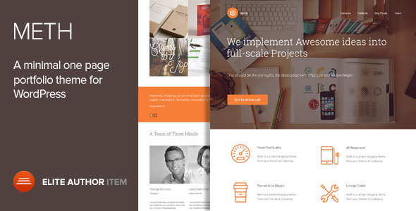 13.one page wordpress theme