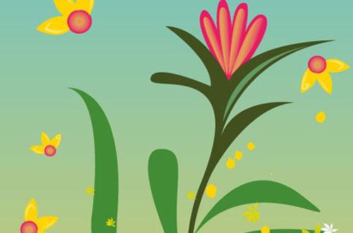 15.flower-vector1