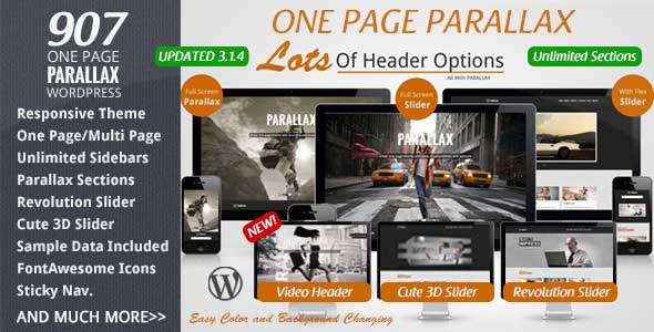 17.one page wordpress theme
