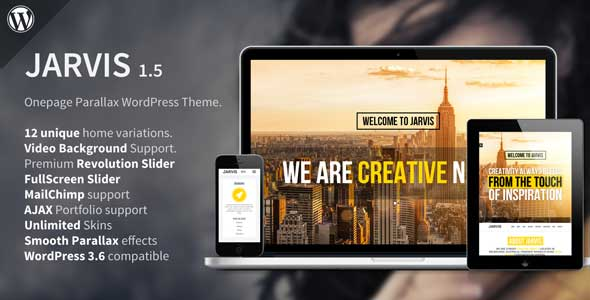 2.one page wordpress theme