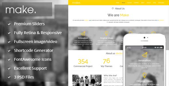 20.one page wordpress theme