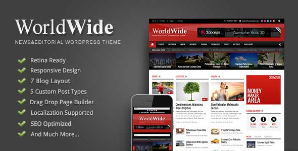 21.Wordpress news themes