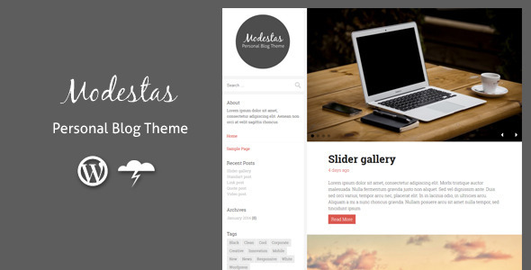 21.wordpress blogging theme