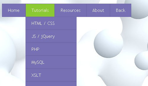 25.css3-html5-dropdown-menu