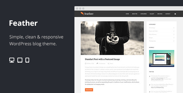 28.wordpress blogging theme