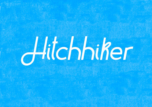 3.Free Font Of The Week  Hitchhiker