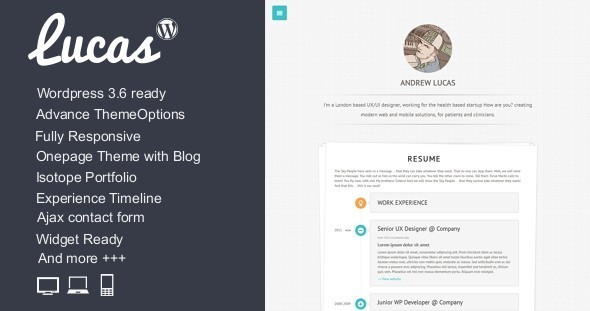 30.wordpress blogging theme