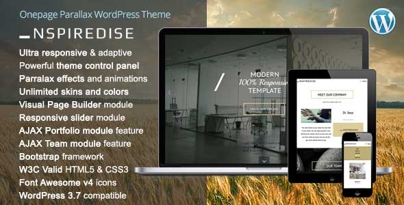 32.one page wordpress theme