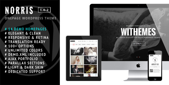 6.one page wordpress theme