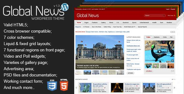 65.Wordpress news themes