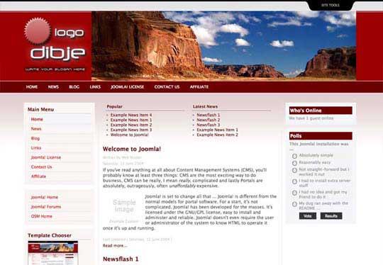 67.free joomla template