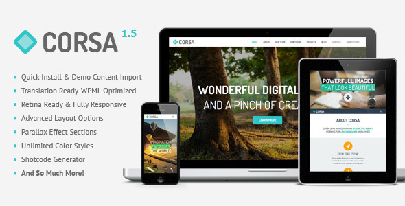 8.one page wordpress theme