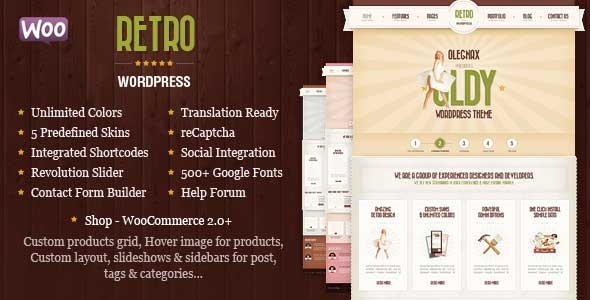 1.free and premium retro wordpress themes