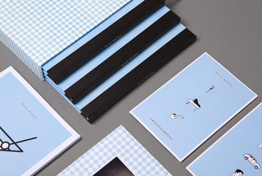 10.Daily Design Inspiration  Blue Baths Identity