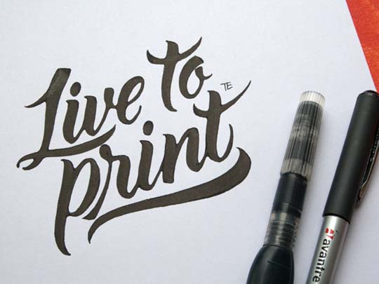 12.Calligraphy and Lettering Sketches