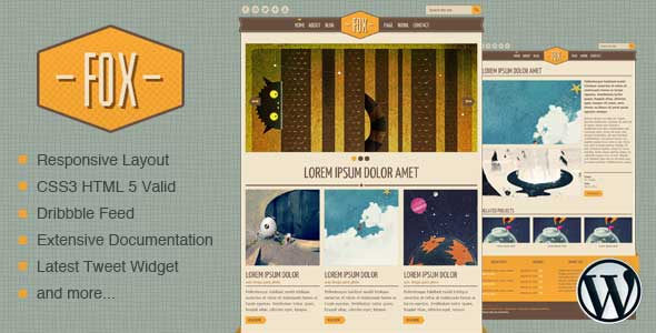 18.free and premium retro wordpress themes