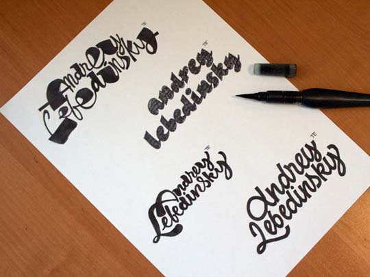 21.Calligraphy and Lettering Sketches