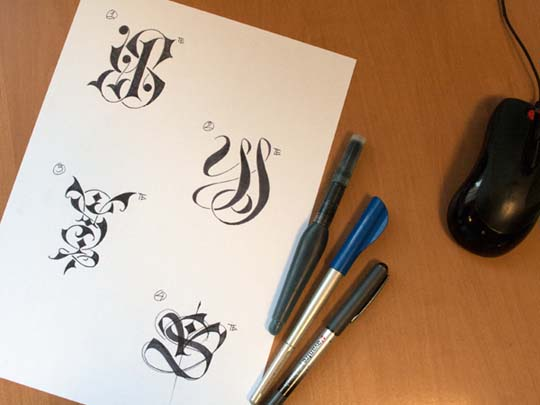 23.Calligraphy and Lettering Sketches