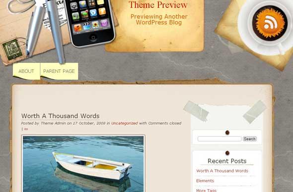 28.free and premium retro wordpress themes