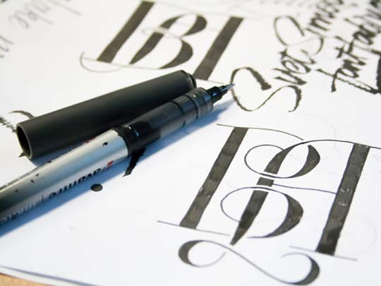 3.Calligraphy and Lettering Sketches