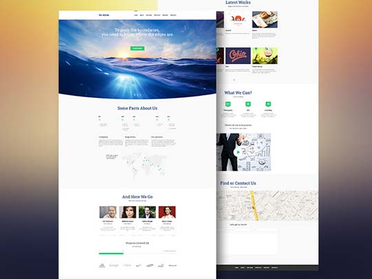 33.free website psd
